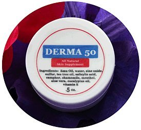 Purple Emu Derma 50 All Natural Skin Supplement Wound and Burn Cream with Emu Oil .5oz. Jar