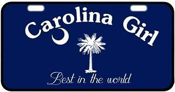 Carolina Girl South Carolina State Background Novelty License Plate