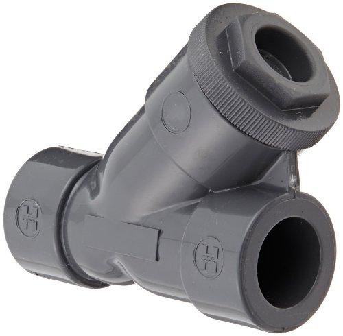 Pvc Y Strainer Socket - Hayward YS10075S Series YS Y-Strainer, Socket End, PVC with FPM Seal, 3/4