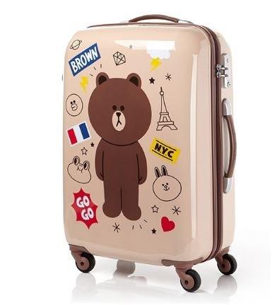 LINE FRIENDS Samsonite ブラウン Beige スーツケース TSAロック SUITCASE(海外直送品) B0714CHVNX