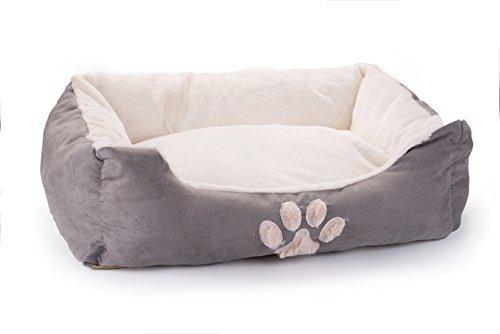 KASENTEX Pet Bed, Grey, 25 x 20 x 8