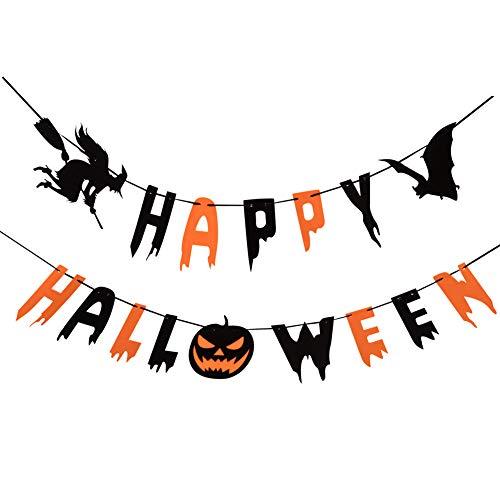 Happy Halloween Banner, Halloween Decorations, Halloween Mantle Decorations, Halloween Party Decorations, Halloween -