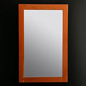 """Lacava Mirror with wood frame, 24""""W, 38""""H Chocolate Bamboo Console"""