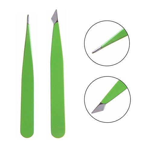 - Women Tip Beauty Stainless Steel Hair Removal Eyebrow Tweezer Makeup Tools