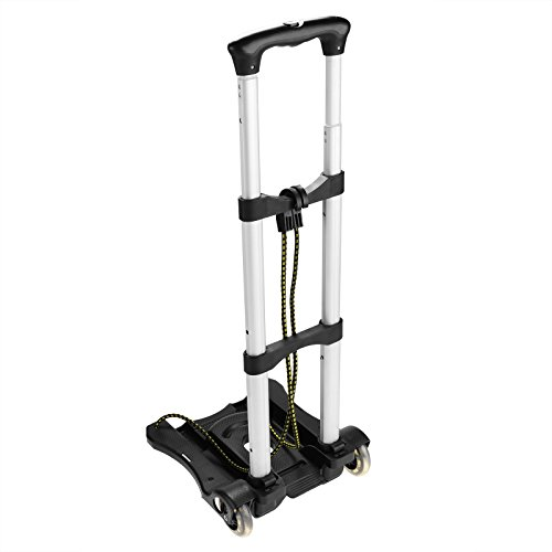 Anfan Folding Luggage Cart Portable Personal Moving Hand Truck 2 Wheels Foldable Platform Truck Shopping Cart - Support 80lbs Capacity by Anfan (Image #1)