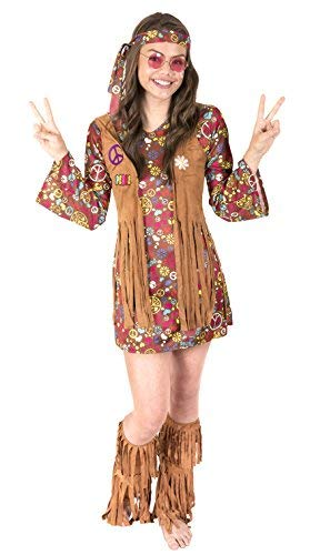 Kangaroo's Halloween Costumes - Love n Peace Hippie Costume, Youth Medium 8-10 -
