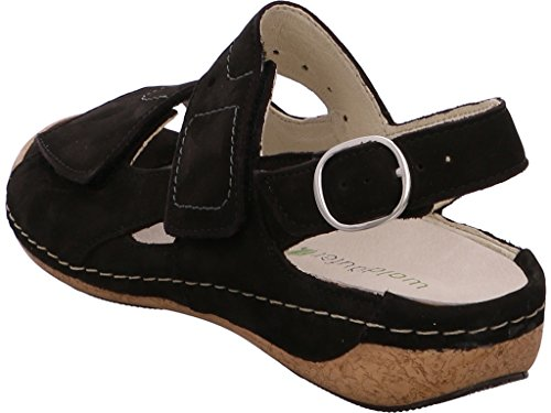 Waldläufer 342011 - Sandalias de vestir para mujer 191001°schwarz