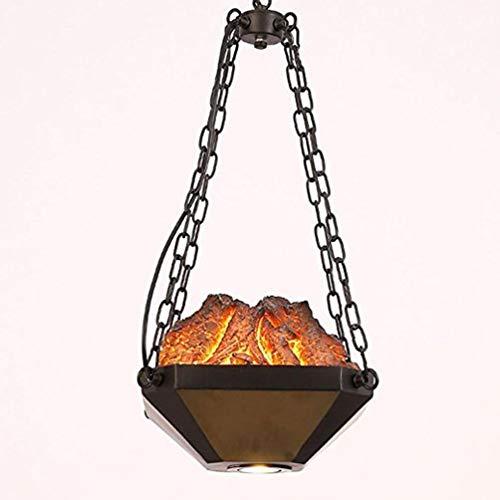 Wapipey Resina Vintage Metal Lámpara Colgante Retro E27 Lámpara Industrial Deco Restaurante Droplight Altura Mesa de...