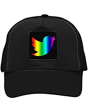 Unisex LGBT Twitter Dove Trucker Hat Adjustable Mesh Cap
