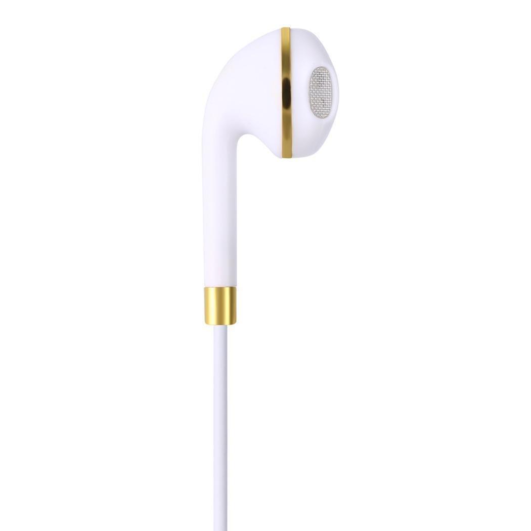 CHIGANT General Filaire écouteurs Intra-Auriculaires Musique Jeu téléphone Écouteurs Super avec Micro Wired Casques, Blanc, 1.2m/47.2inch