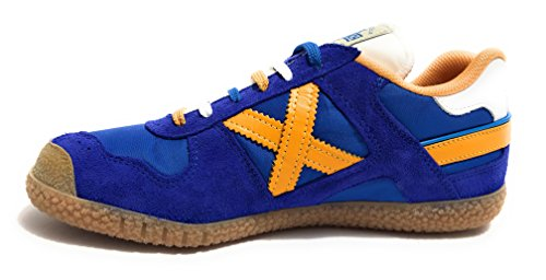 Tessuto CAMOSCIO Scarpe Munich Sneaker Unisex Blue Goal Royal U18MU24 in Orange qW8wa7AH