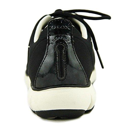 geox Nebula Nappa Noir, Baskets Mode Femme Noir
