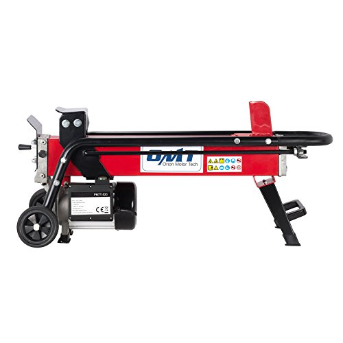OrionMotorTech 2200W 7-Ton Electric Log Splitter, Kindling Firewood Cutter with Mobile Wheels