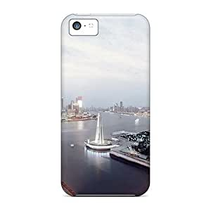 Hot IfutEaz802BqVJP Case Cover Protector For Iphone 5c- Shanghi Skyline
