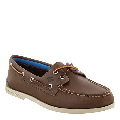 Sperry Men's A/O 2-Eye Plush Boat Shoe, Brown, 13 M US