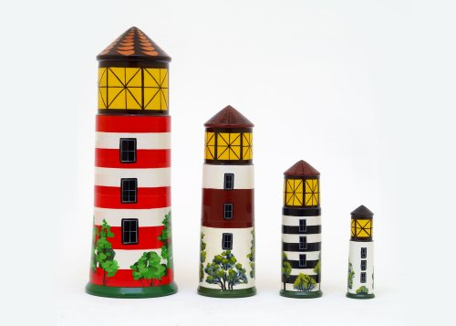 Lighthouse Beacons Nesting Doll (Cape Canaveral Lighthouse)