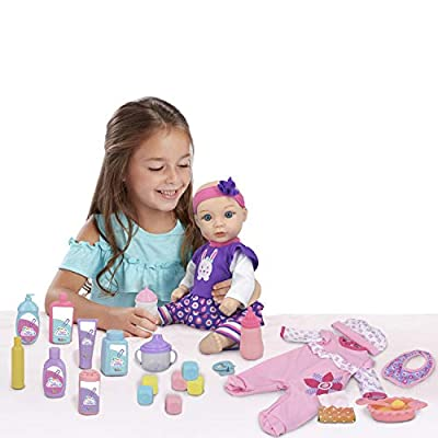 Little Darlings Baby Doll Deluxe Set: Toys & Games