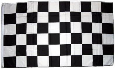 FLAGGE ZIELFLAGGE SCHWARZES UND WEISSES 90x60cm SCHWARZ-WEISSE RENNFLAGGE FAHN