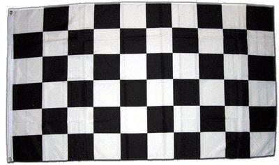 Flagge Zielflagge Schwarz Wei/ß 60 x 90 cm