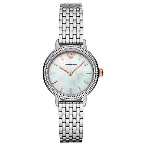 Emporio Armani AR80020 Silver Steel 316 L Woman Watch