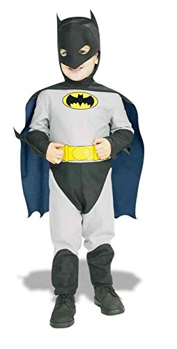 [UHC Batman Dc Comics Superhero Toddler Kids Fancy Dress Halloween Costume, 2T-4T] (Marvel Super Villains Costumes)