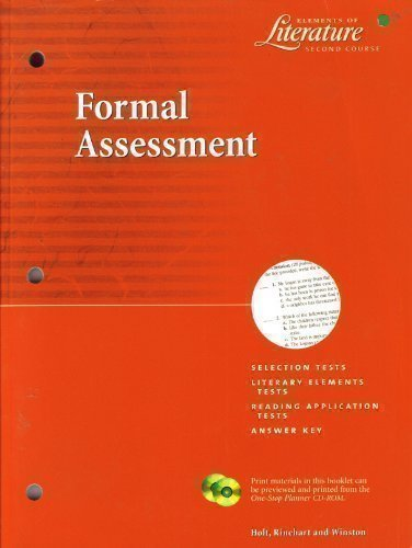 Formal Assesment: Elements of Literature - Second Course (Elements of Literature - Second Course)