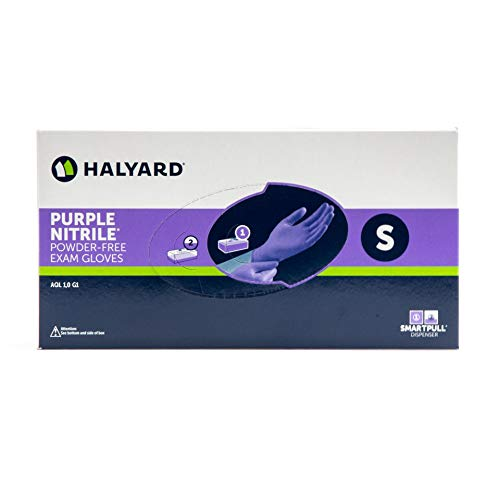 Halyard Health PURPLE NITRILE EXAM GLOVES Gloves, Small, 100/bx, 10 bx/cs (60 cs/plt) ()