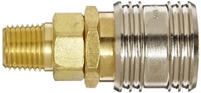 "Eaton Hansen 1100 Brass 1000/400/500 Series, Industrial Interchange, Coupler Socket, 1/4"" Body size x 1/4"" NPT Male"