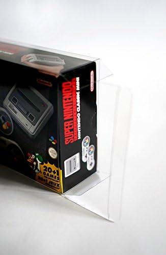 Funda de protección 2x para Nintendo NES MINI y SNES MINI Classic Caja de embalaje original Protector de PET 0,5 mm Ajuste perfecto y transparente: Amazon.es: Videojuegos