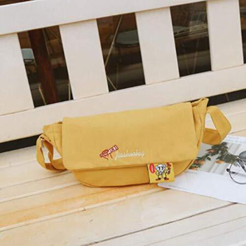 Borsa Ovesuxle Grande White In Capacità Yellow A Diagonale Vita Unisex color Tracolla wpqOIpgT