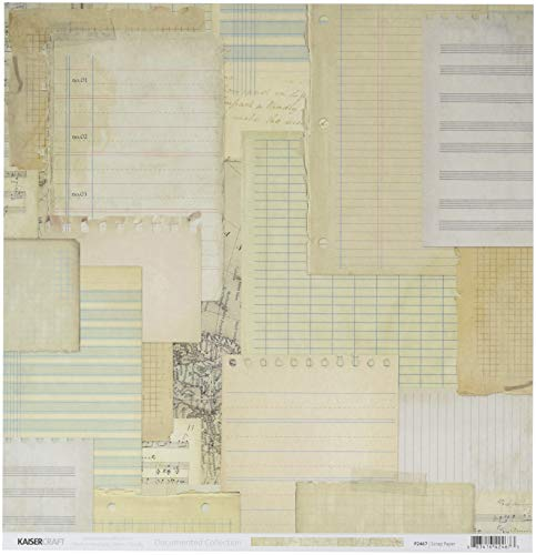(Kaisercraft Scrap Paper Documented Double-Sided Cardstock)