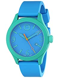 Esq Movado 7301465 Esq One Blue Silicone And Dial Green Case Watch