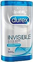Durex Invisible,  extra dünne Kondome,  1er Pack (1 x 12 Stück)