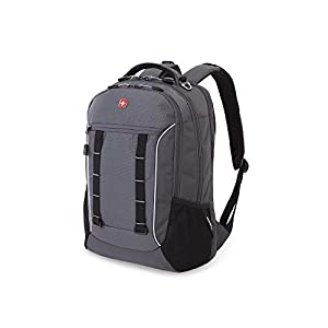 Swiss Gear SA5970 Laptop Computer Tablet Notebook Backpack - for School, Travel, Carry On Luggage, Women, Men, Student, Professional Use - Grey Tin / Silver Storm, 19 Inches