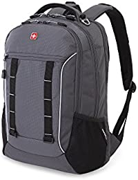 SA5970 Laptop Computer Tablet Notebook Backpack - for School, Travel, Carry On Luggage, Women, Men, Student, Professional Use - Grey Tin / Silver Storm, 19 Inches