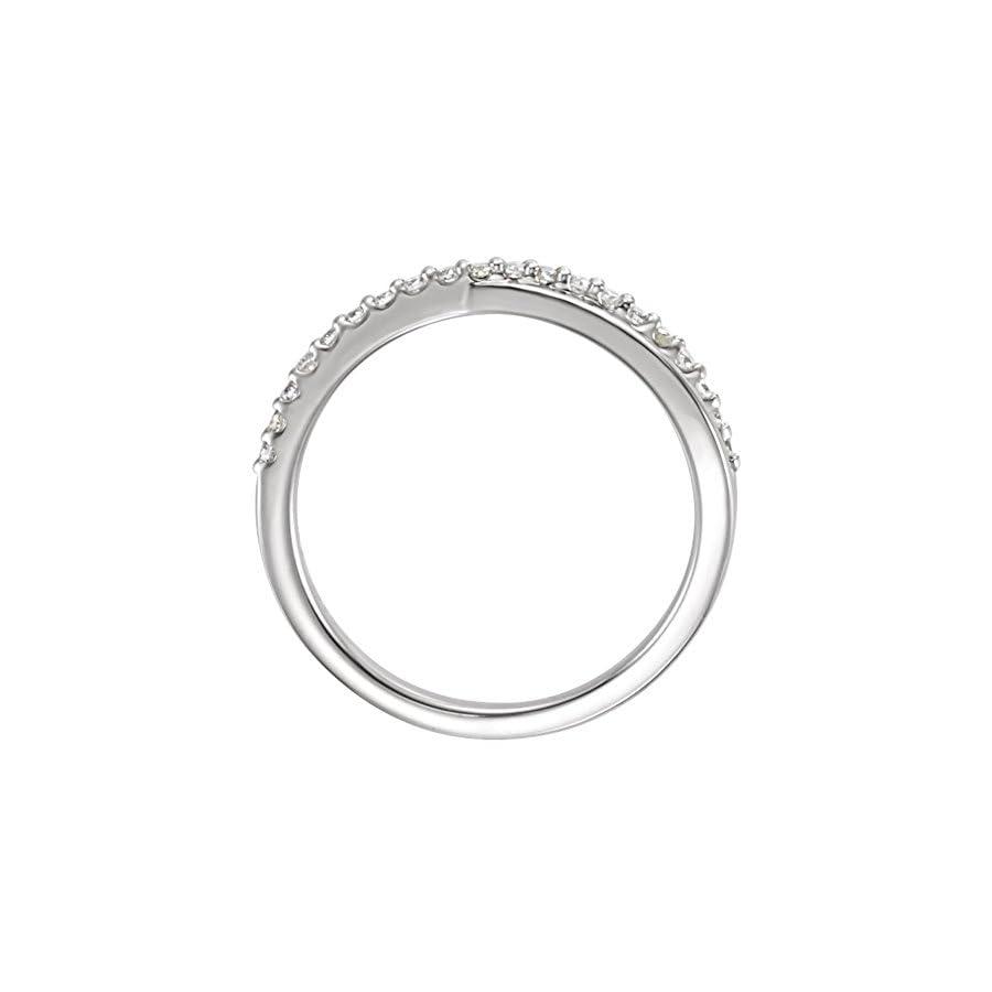 0.35 ct Ladies Round Cut Diamond Criss Cross Ring in 18 kt White Gold
