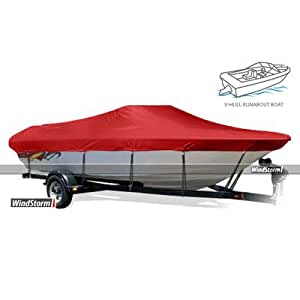 "WindStorm Narrow V-Hull Motorless Fishing Boat Cover Color: Black, Beam Width x Centerline: 64"" x 162"""