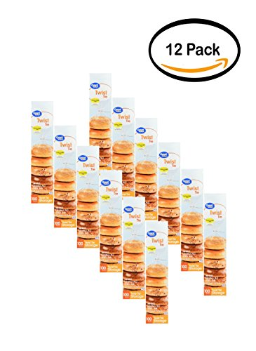 PACK OF 12 - Great Value Twist Tie Food Storage Bags, Extra Large, 100 Count by Great Value