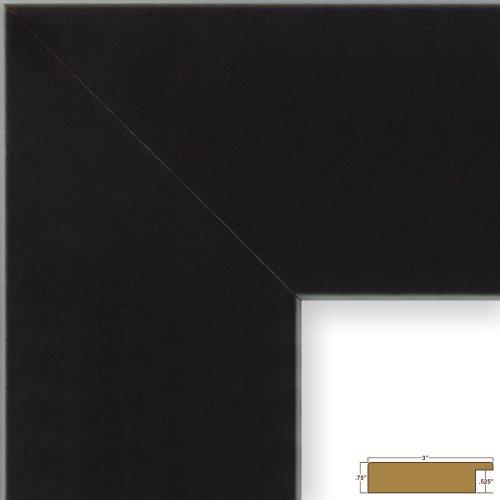 Craig Frames Bauhaus, Modern Black Satin Mica Picture Frame, 16 by 20-Inch (Modern Art Frames)