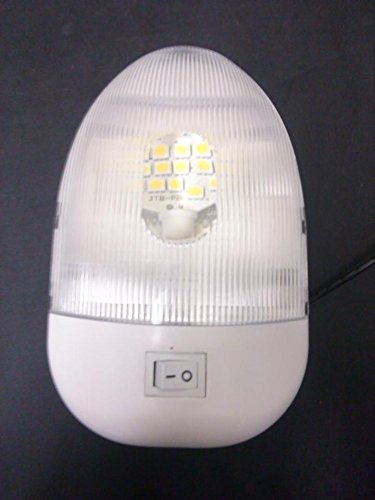 New 3200k Rv 12v Single Euro Style Pancake Led Dome Light