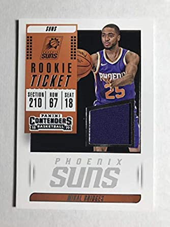 02abbe824 2018-19 Panini Contenders Rookie Ticket Swatches Basketball Mikal Bridges  Jersey Relic Phoenix Suns
