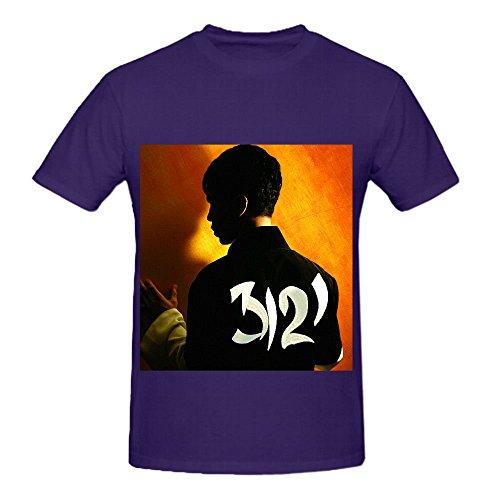 Prince 3121 Tour 80s Mens O Neck Design Tee Purple (Cheap 80s Dresses)