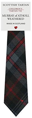 Murray Of Atholl Tartan (Boys Clan Tie All Wool Woven in Scotland Murray of Atholl Weathered Tartan)