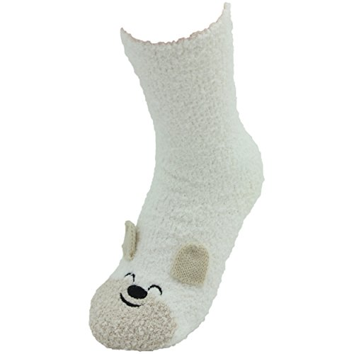 WOMEN'S SOCKS: 3D Adorable Christmas Holiday Soft Socks with GIFT BAG, Polar Bear