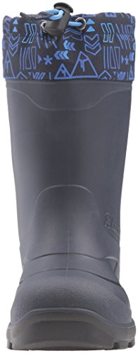 Kamik Snobuster2 Snow Boot, Charcoal/Lime, 1 M US Little Kid Navy