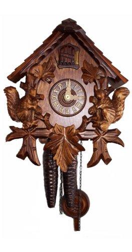 (August Schwer Cuckoo Clock Jumping Squirrels)