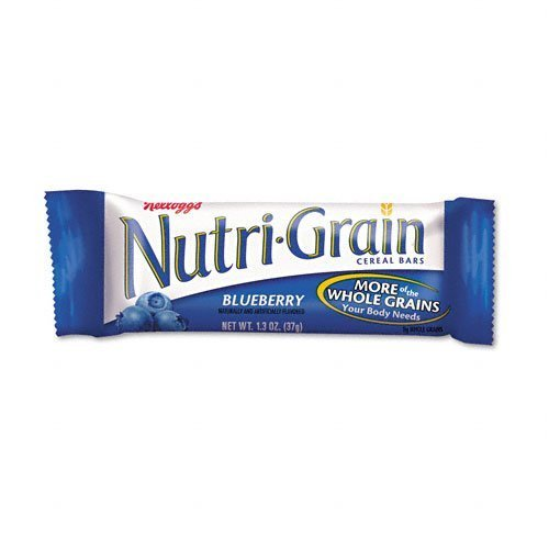 Kelloggs : Nutri-Grain Cereal Bars, Blueberry, Indv Wrapped 1.5oz Bar, 16 Bars/Box -:- Sold as 2 Packs of - 16 - / - Total of 32 Each by Kellogg's ()