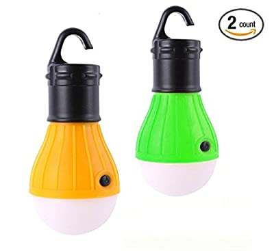 Yaping Outdoor and Indoor Portable LED Tent Light Lamp Lantern for Hiking Camping Emergencies Home (Pack of 2)