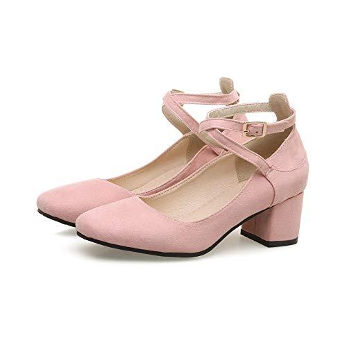 Rose Femme Sandales Compensées SDC05725 AdeeSu 6FzqPq