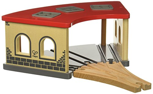 Hape Wooden Railway Big Engine Shed Train Set